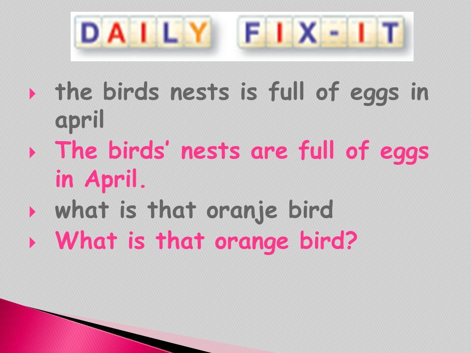 the birds nests is full of eggs in april