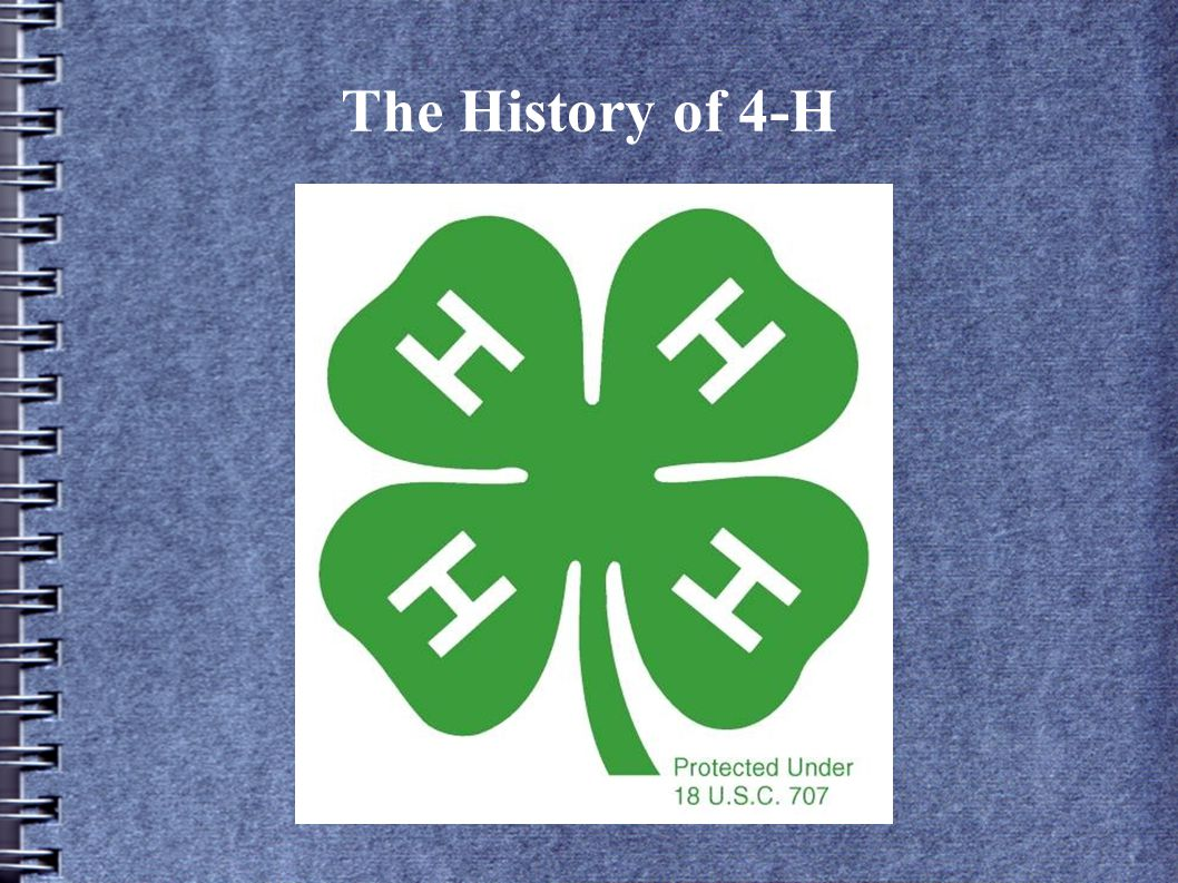 The History of 4-H