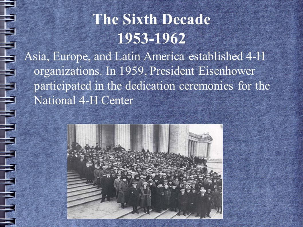 The Sixth Decade 1953-1962