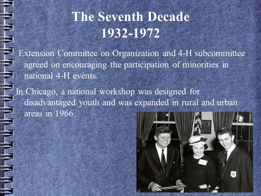 The Seventh Decade 1932-1972