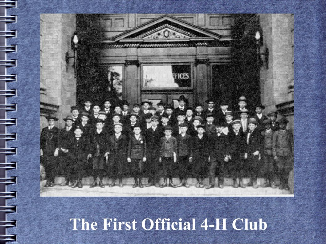 The First Official 4-H Club