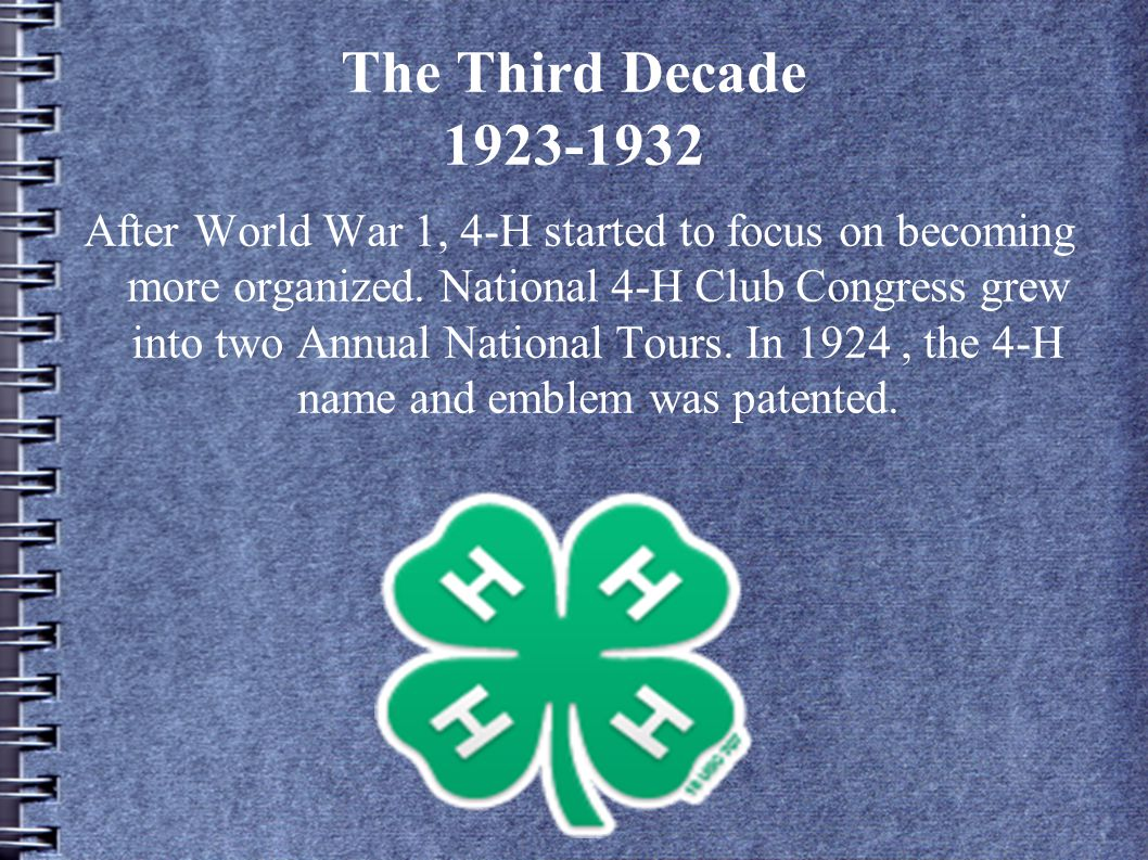 The Third Decade 1923-1932
