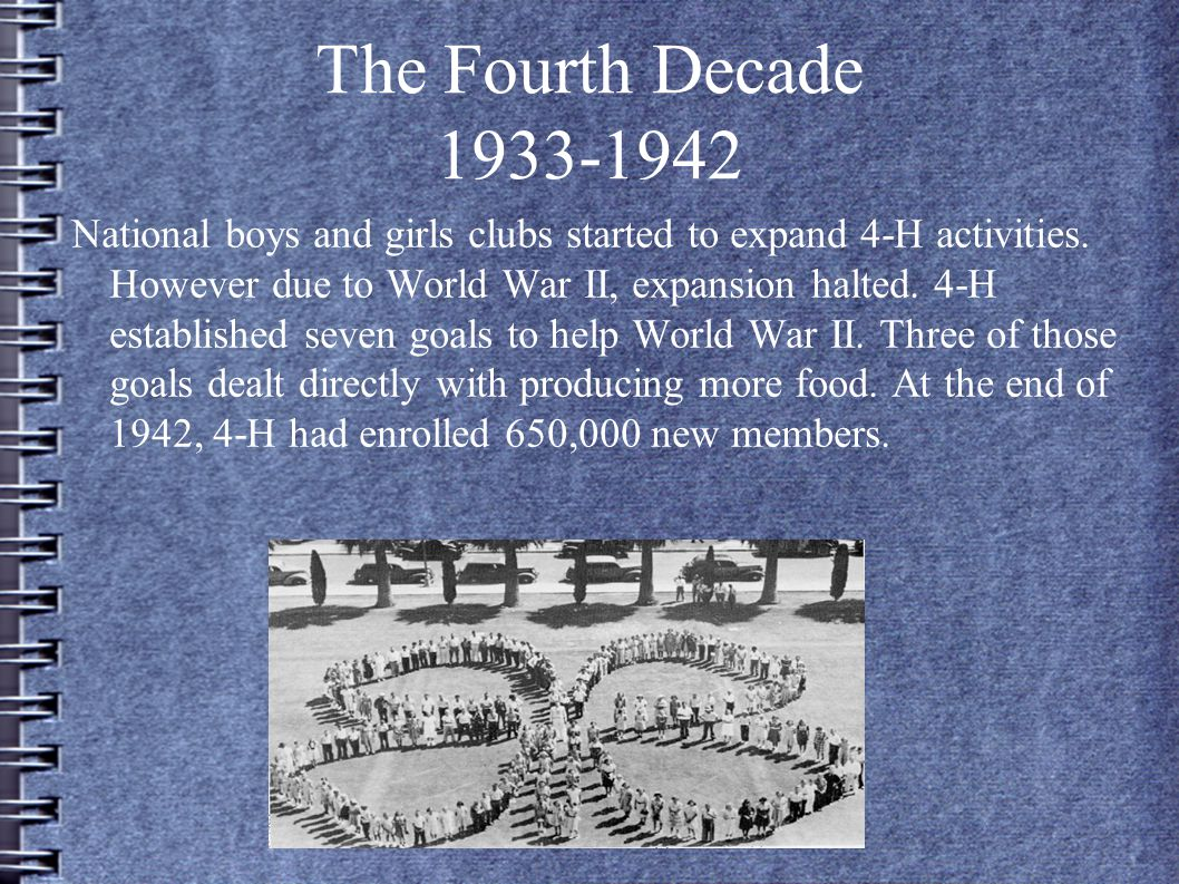 The Fourth Decade 1933-1942