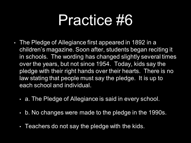 Practice #6