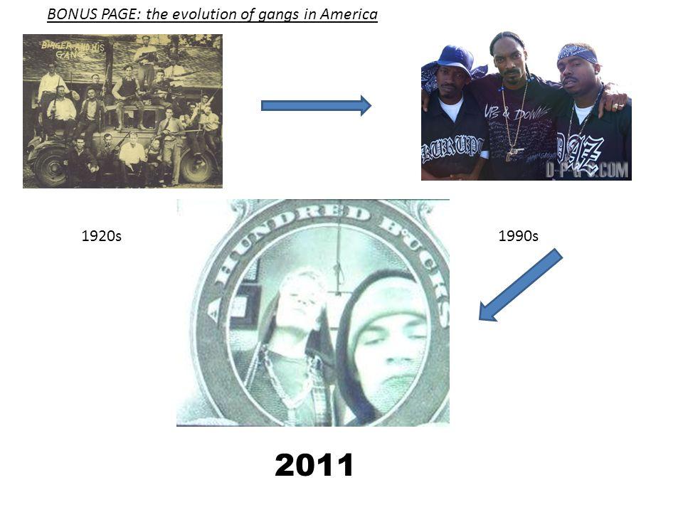 BONUS PAGE: the evolution of gangs in America