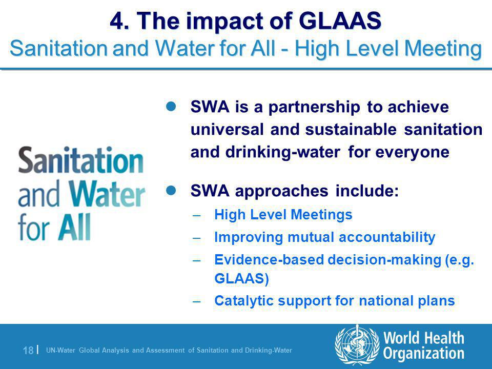 4. The impact of GLAAS Sanitation and Water for All - High Level Meeting