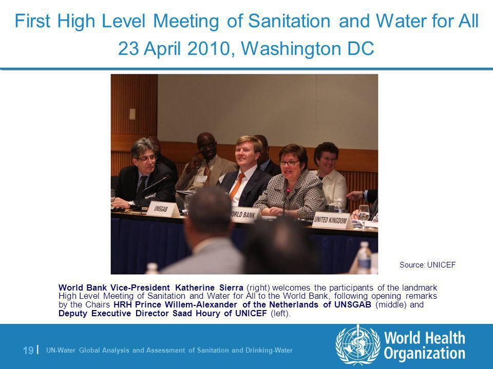 First High Level Meeting of Sanitation and Water for All