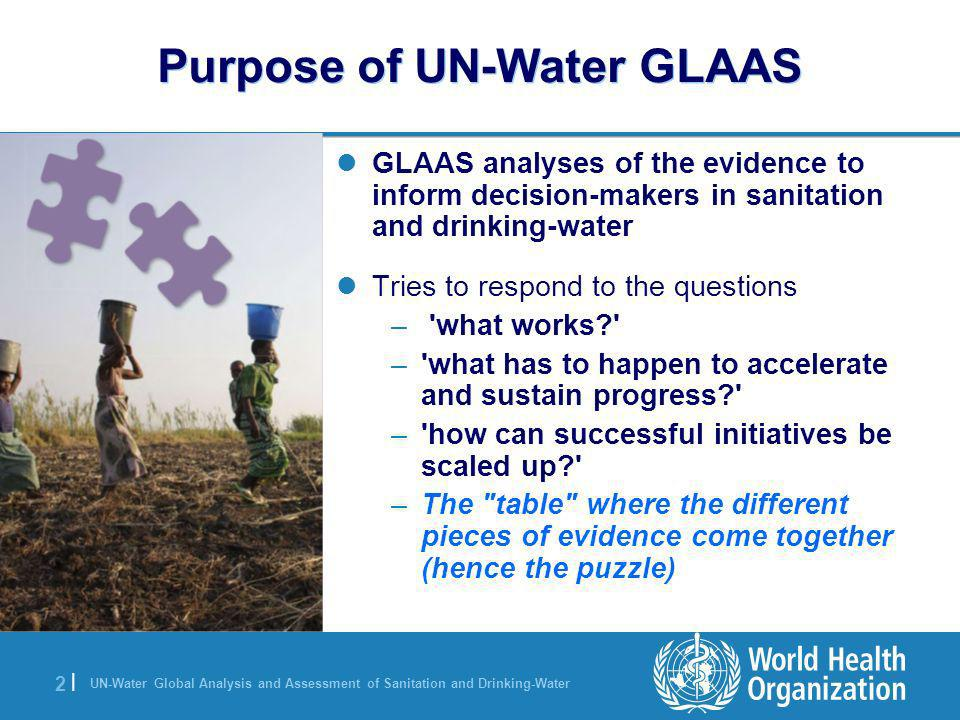 Purpose of UN-Water GLAAS