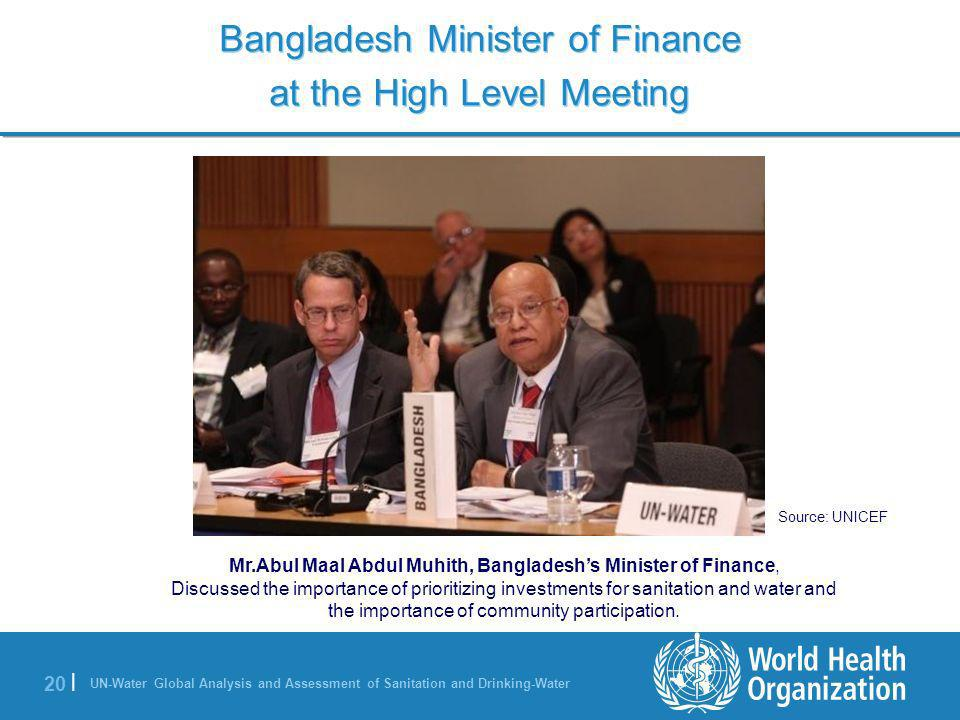 Bangladesh Minister of Finance at the High Level Meeting
