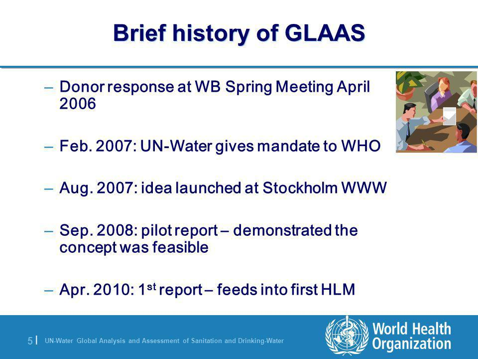 Brief history of GLAAS Donor response at WB Spring Meeting April 2006