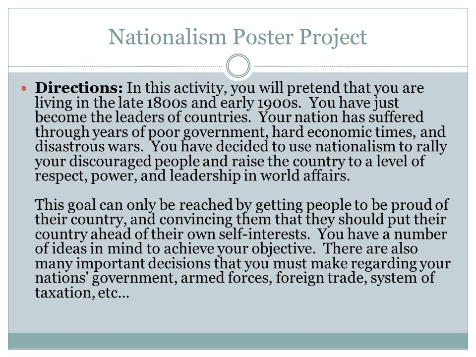 Nationalism Poster Project