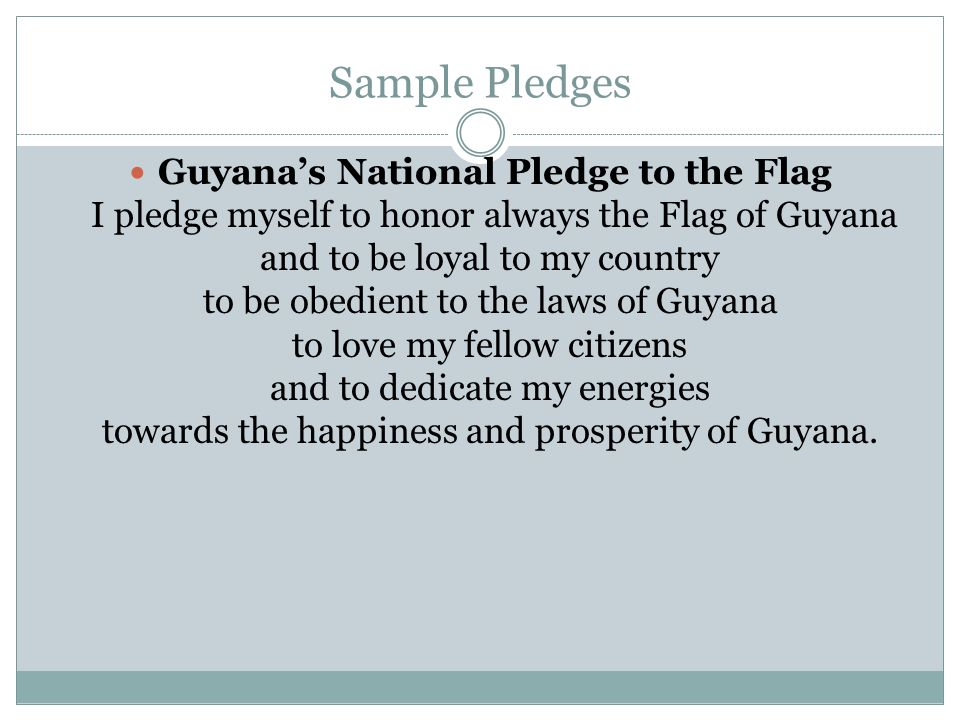 Sample Pledges