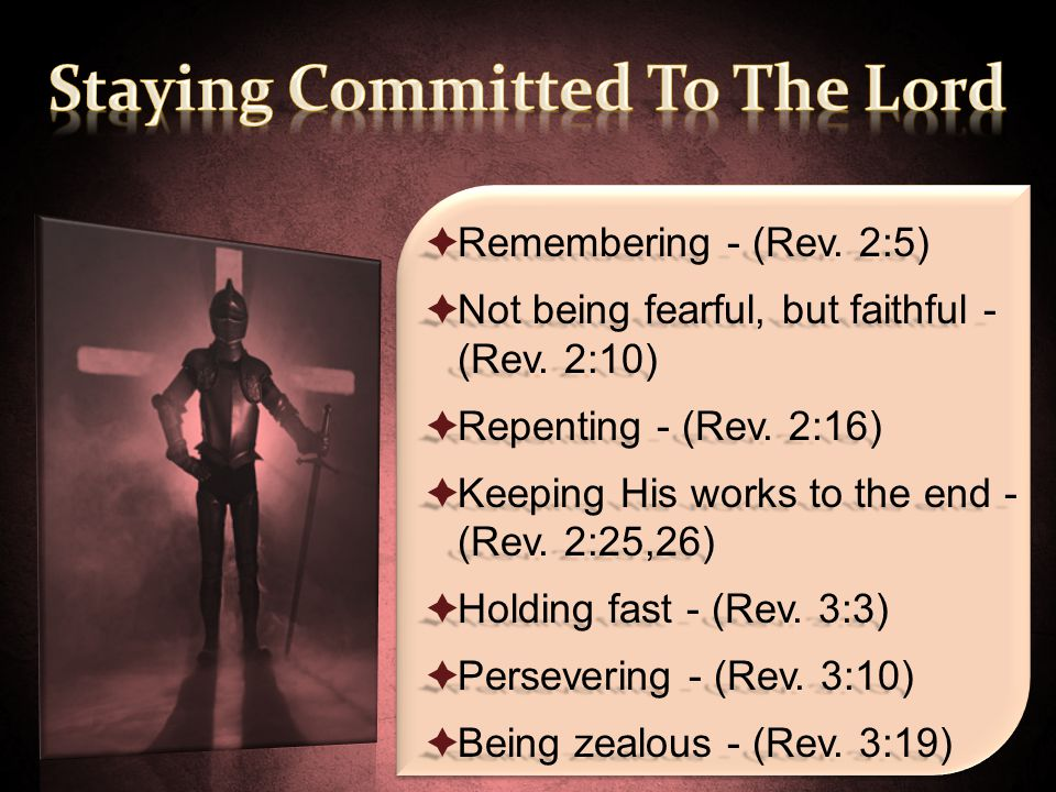 Staying Committed To The Lord