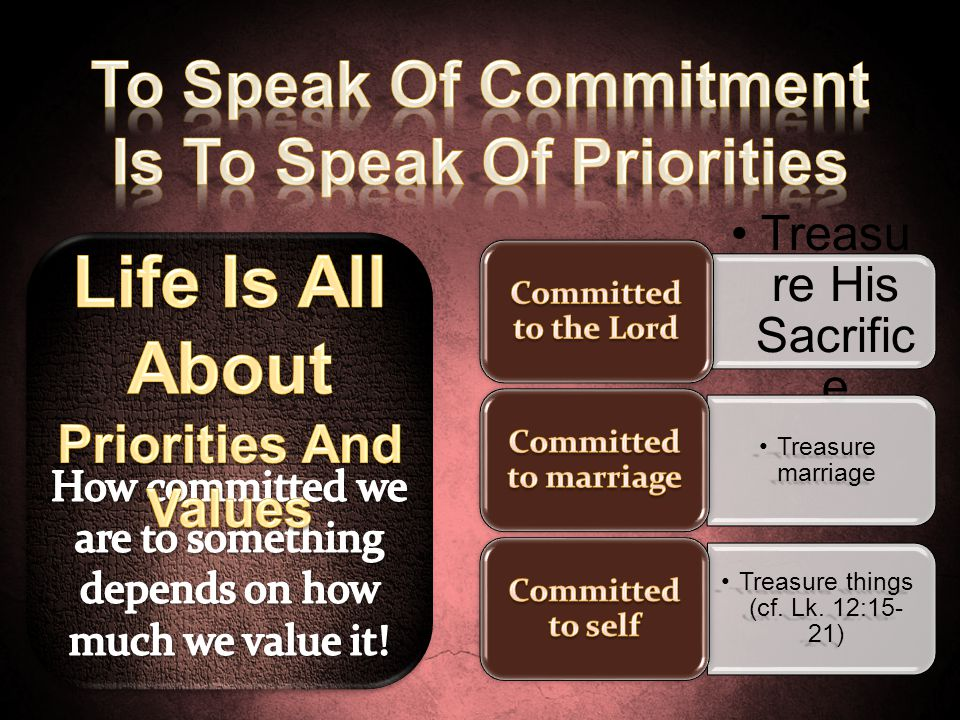Is To Speak Of Priorities Life Is All About Priorities And Values