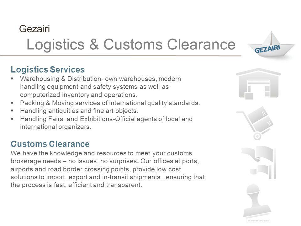 Logistics & Customs Clearance