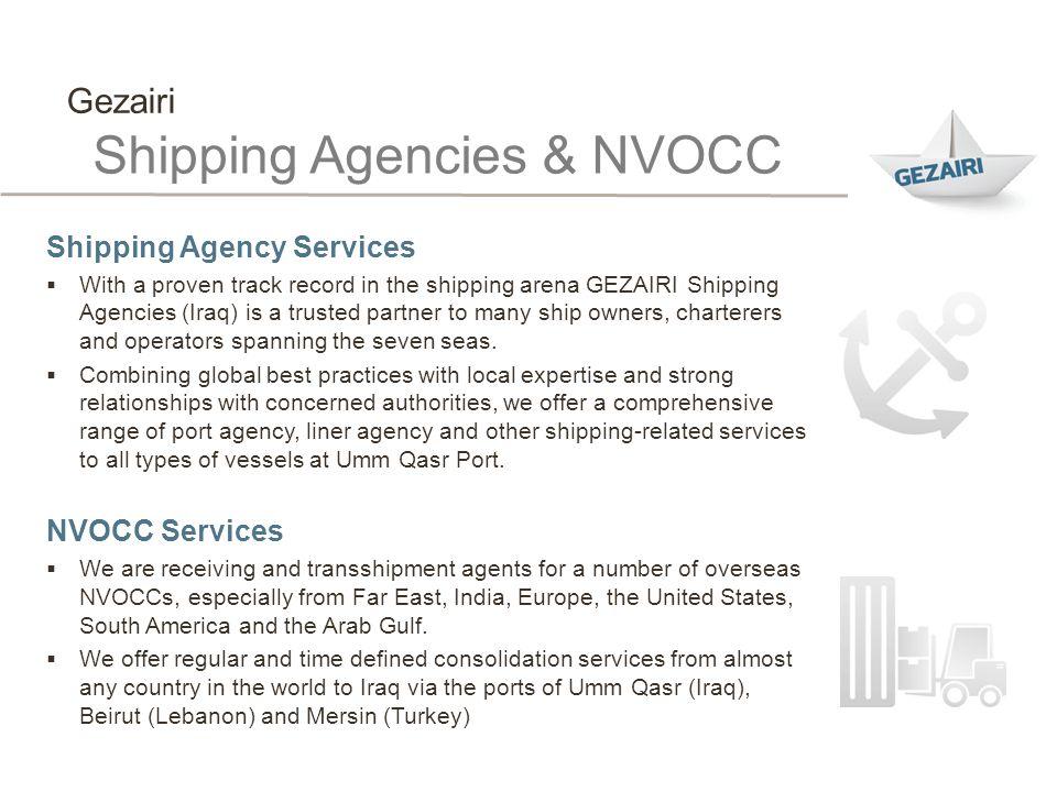 Shipping Agencies & NVOCC