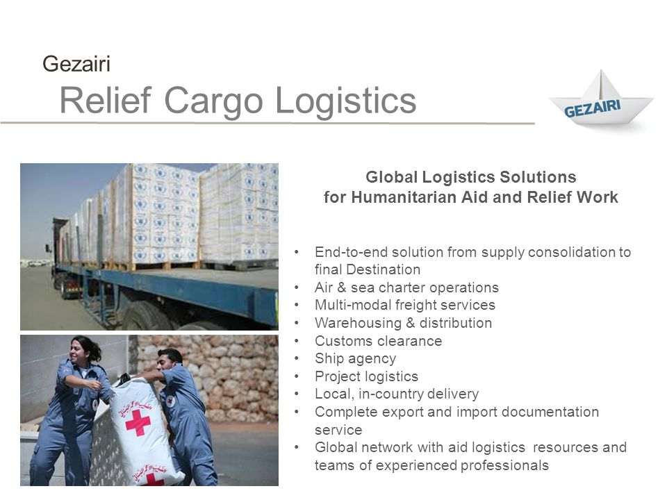 Global Logistics Solutions for Humanitarian Aid and Relief Work