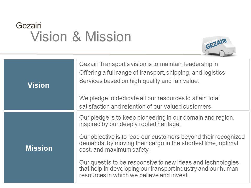 Vision & Mission Gezairi Vision Mission