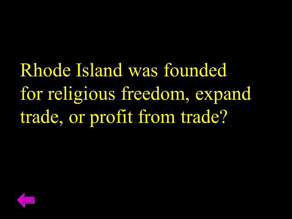 Rhode Island was founded