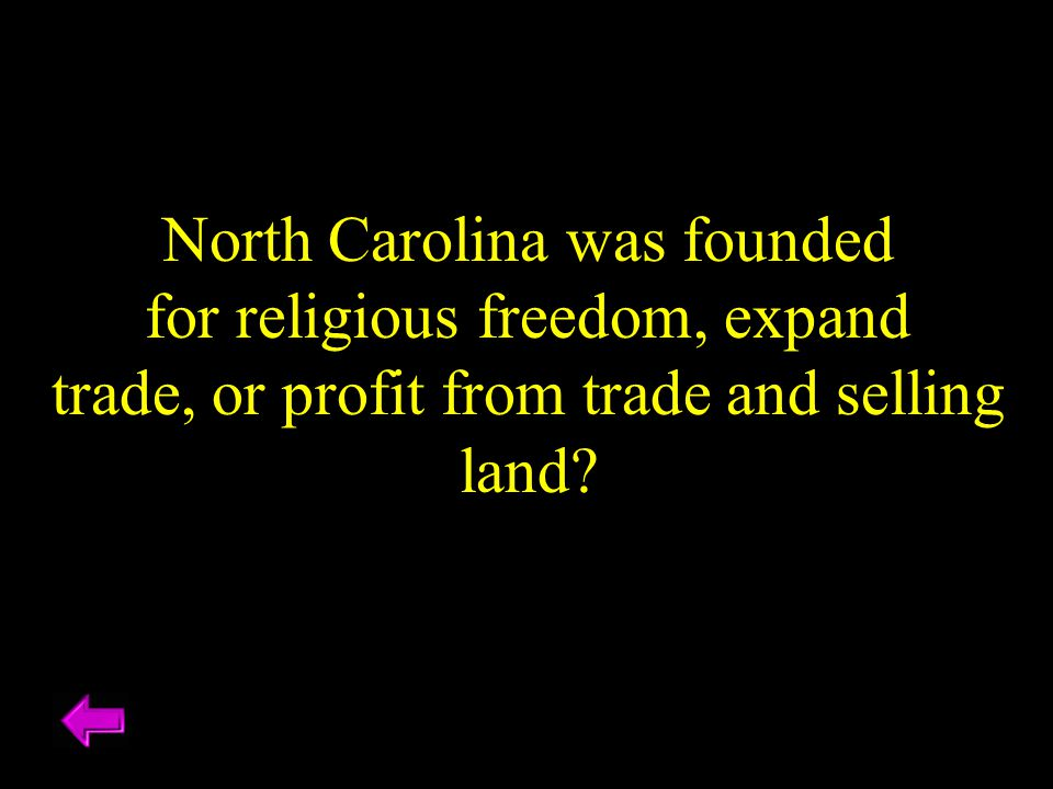 North Carolina was founded for religious freedom, expand