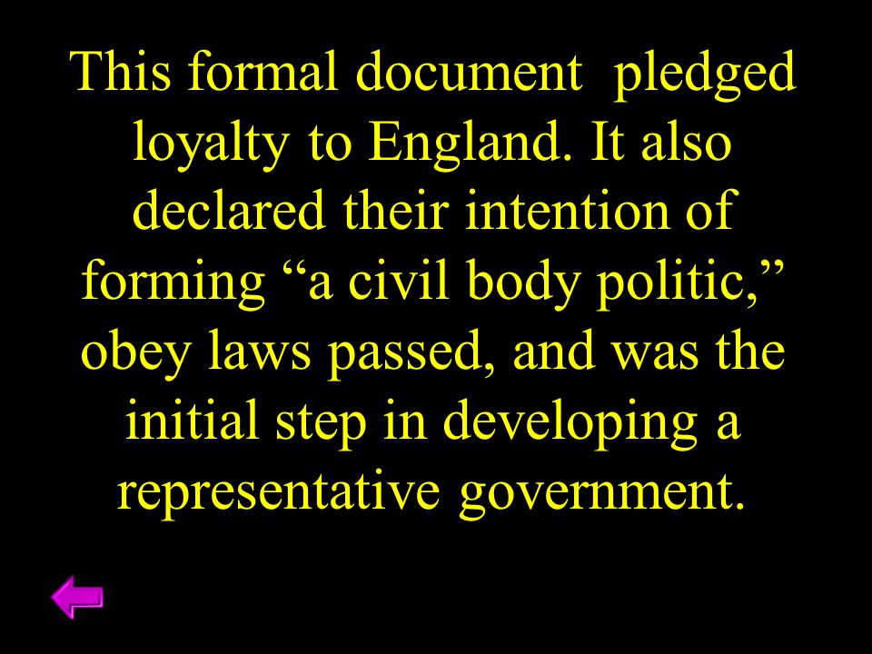 This formal document pledged loyalty to England