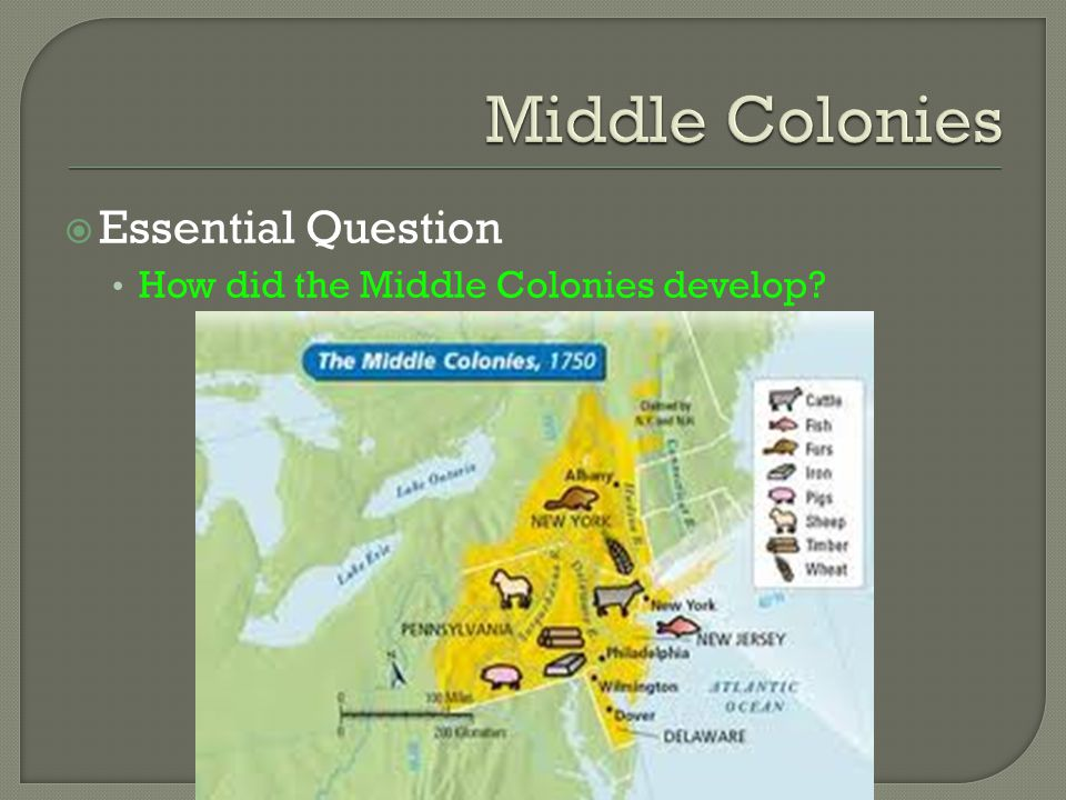 Middle Colonies Essential Question