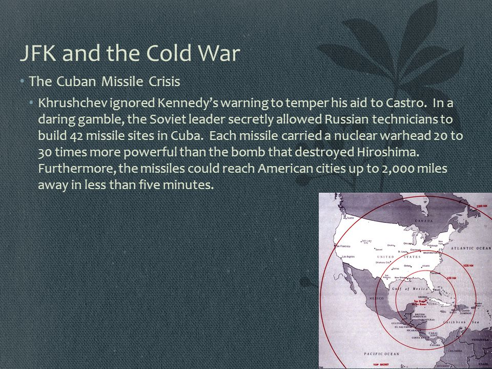 JFK and the Cold War The Cuban Missile Crisis