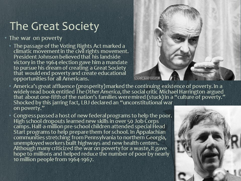 The Great Society The war on poverty
