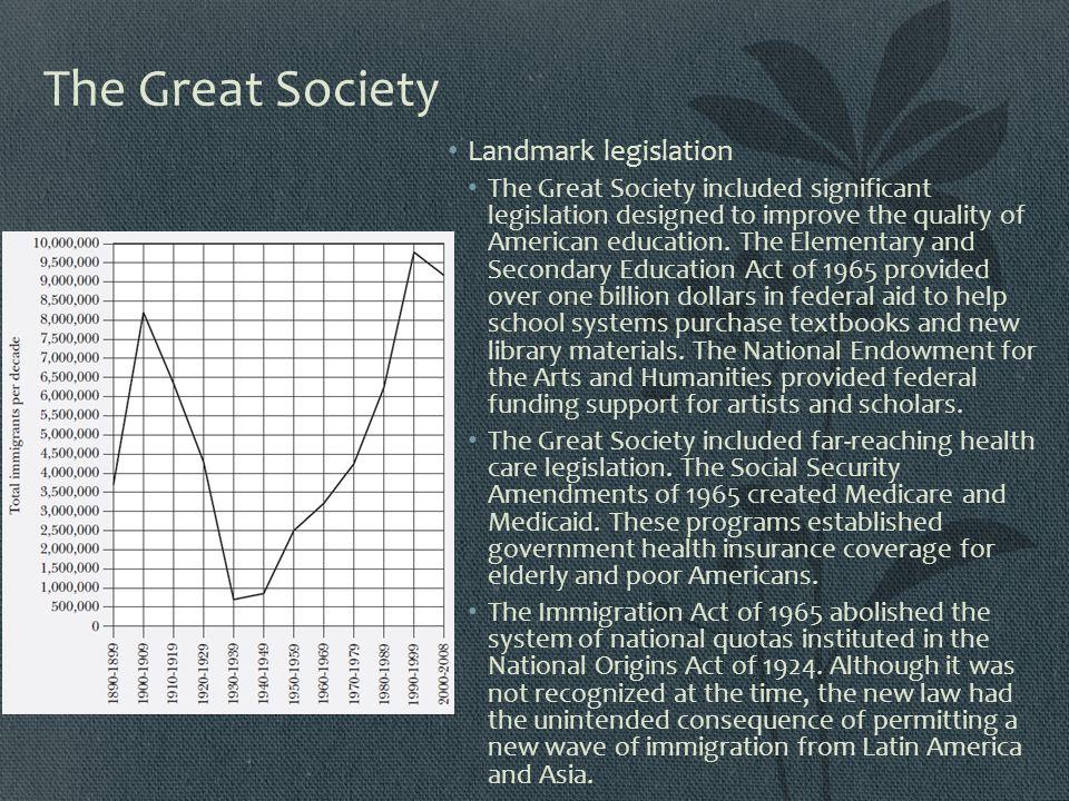 The Great Society Landmark legislation