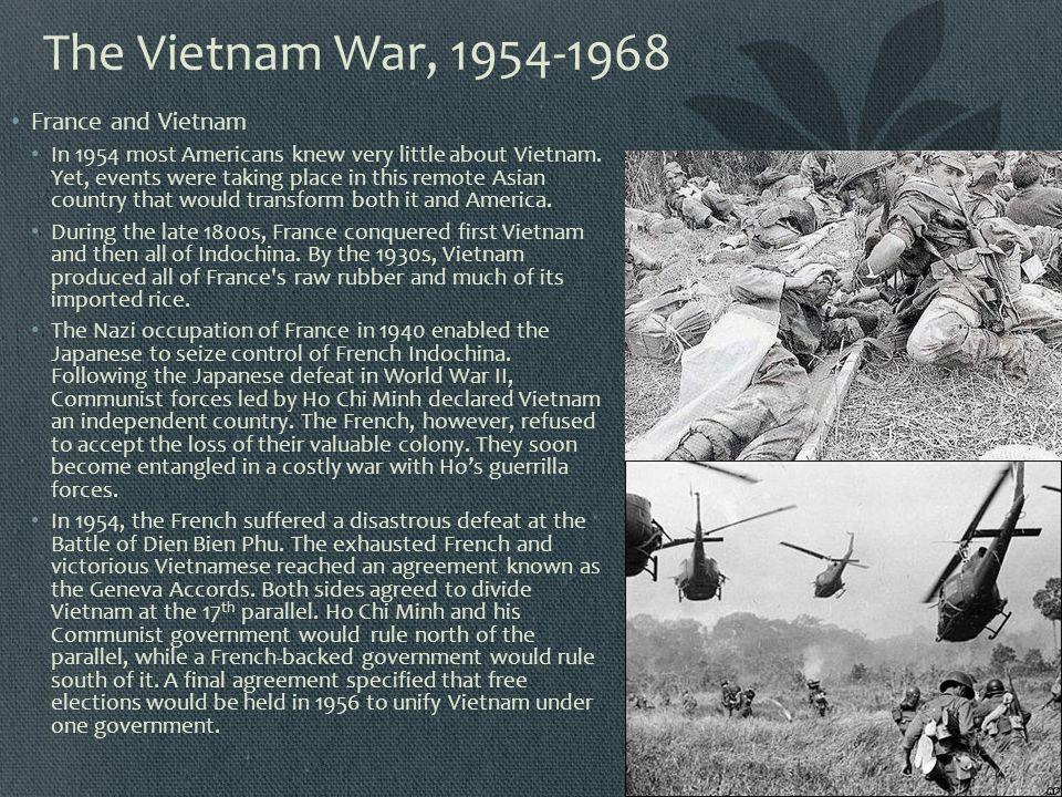 The Vietnam War, 1954-1968 France and Vietnam