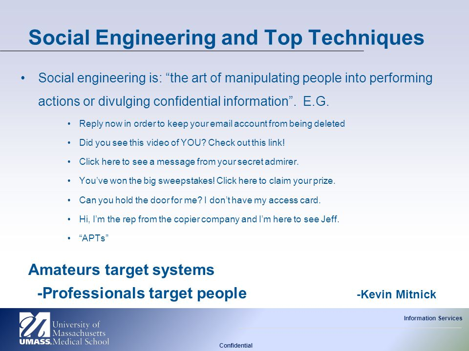 Social Engineering and Top Techniques