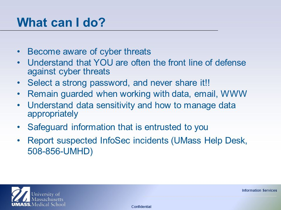 What can I do Become aware of cyber threats