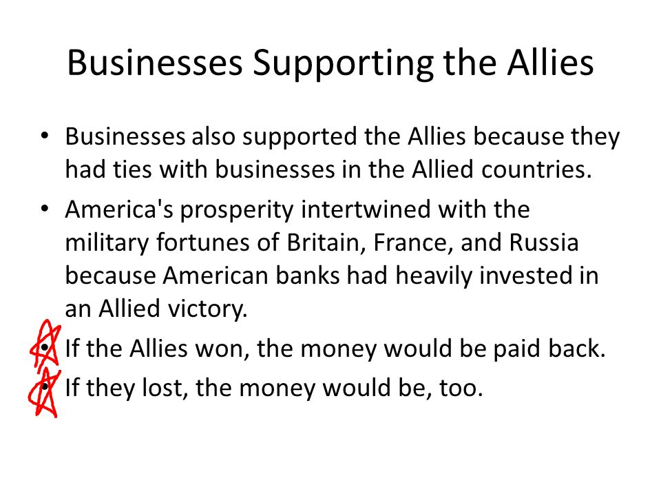 Businesses Supporting the Allies