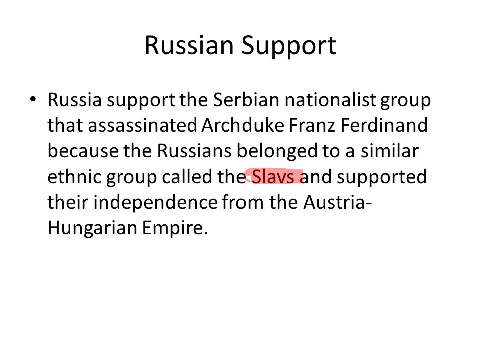 Russian Support