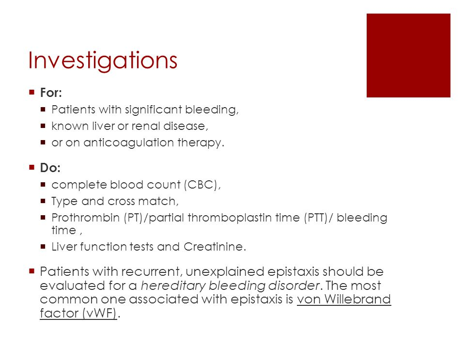 Investigations For: Do: