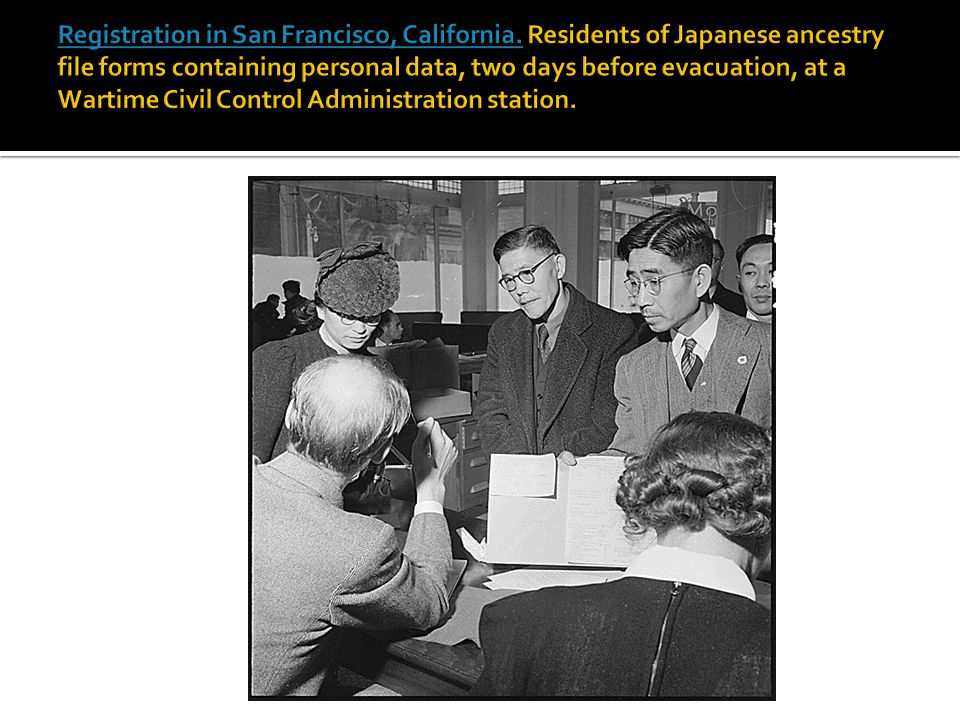 Registration in San Francisco, California