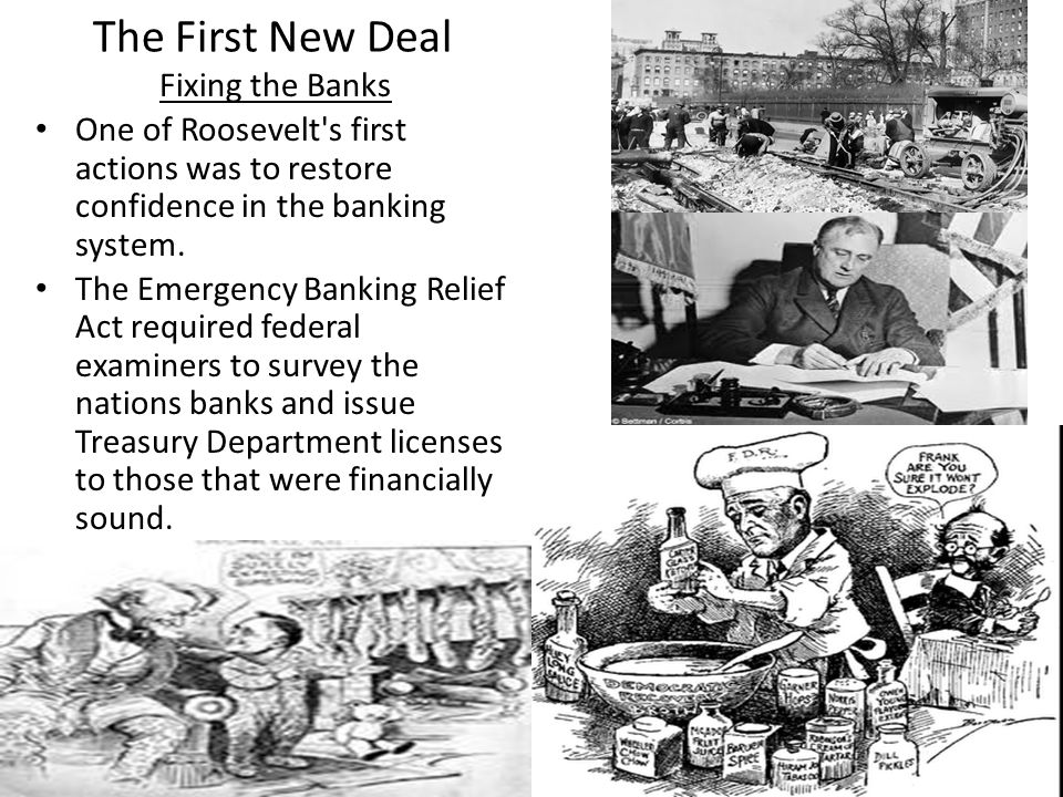 The First New Deal Fixing the Banks