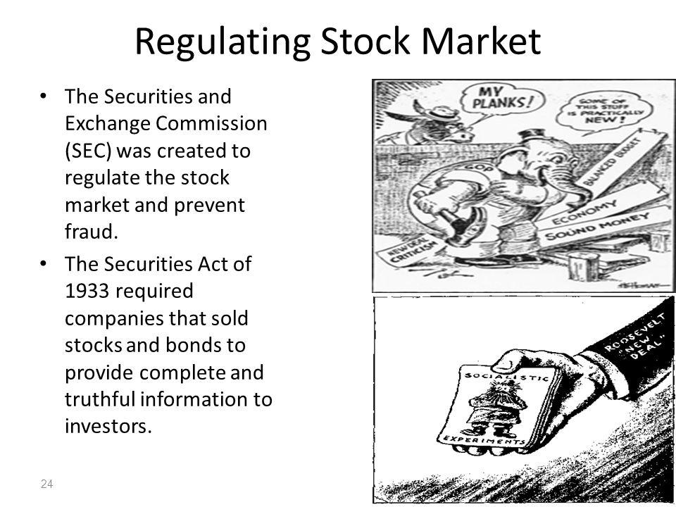 Regulating Stock Market