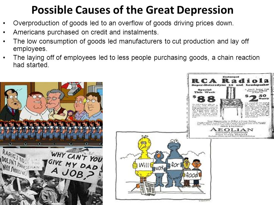 Possible Causes of the Great Depression