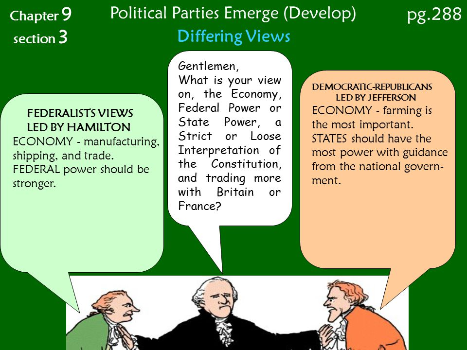 Political Parties Emerge (Develop)