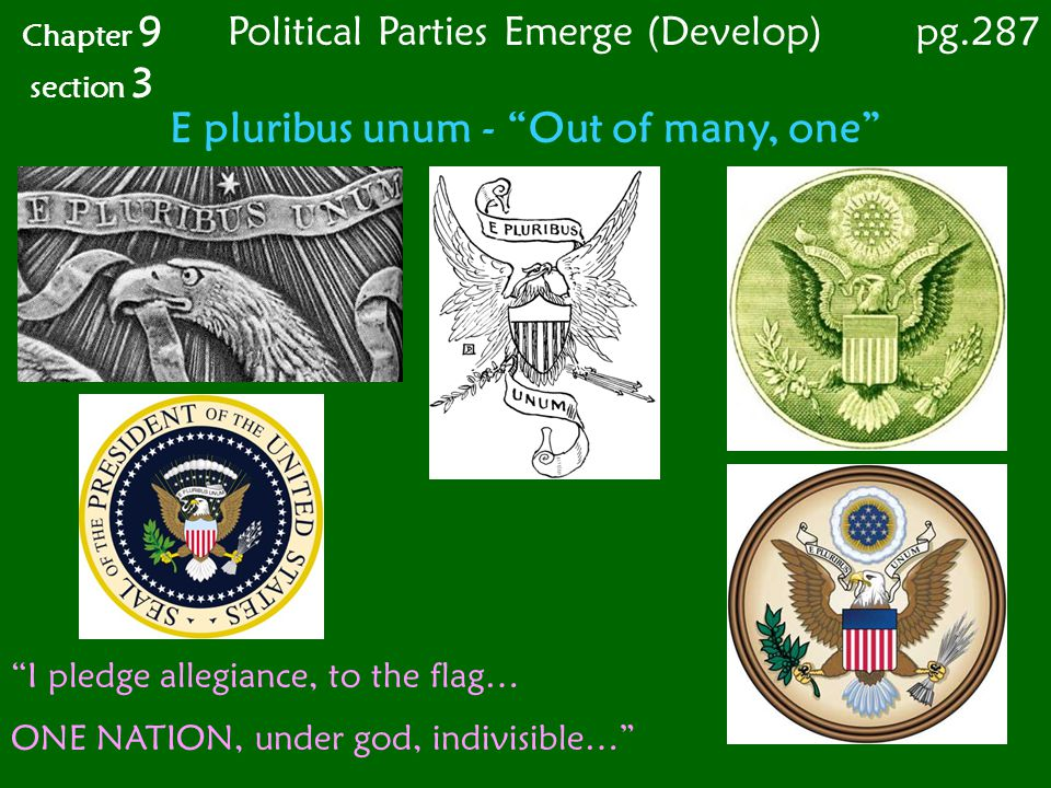 E pluribus unum - Out of many, one