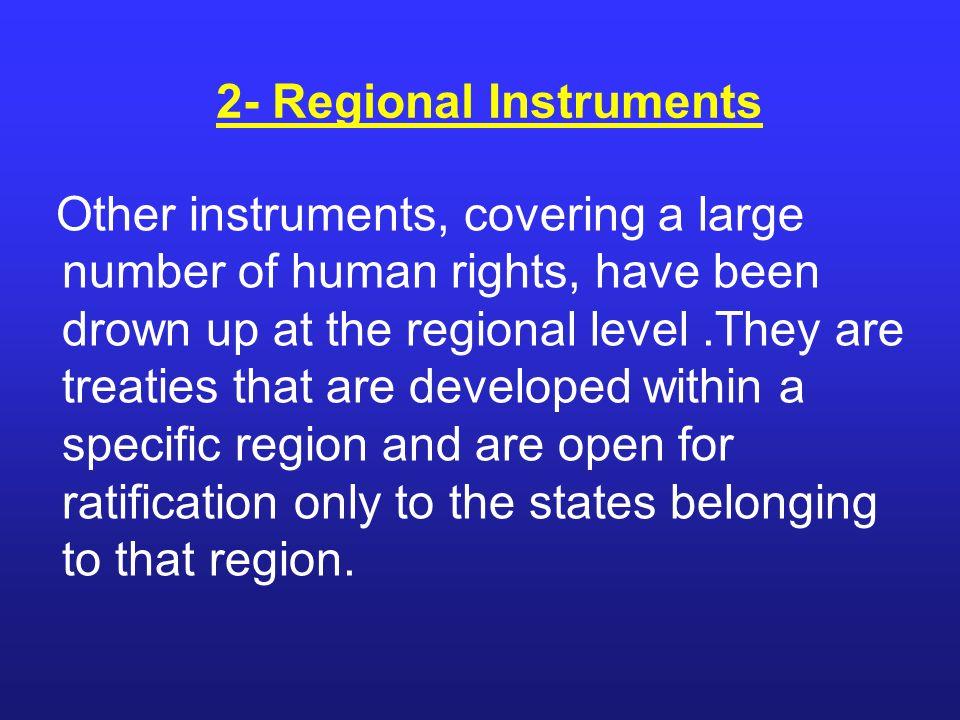 2- Regional Instruments