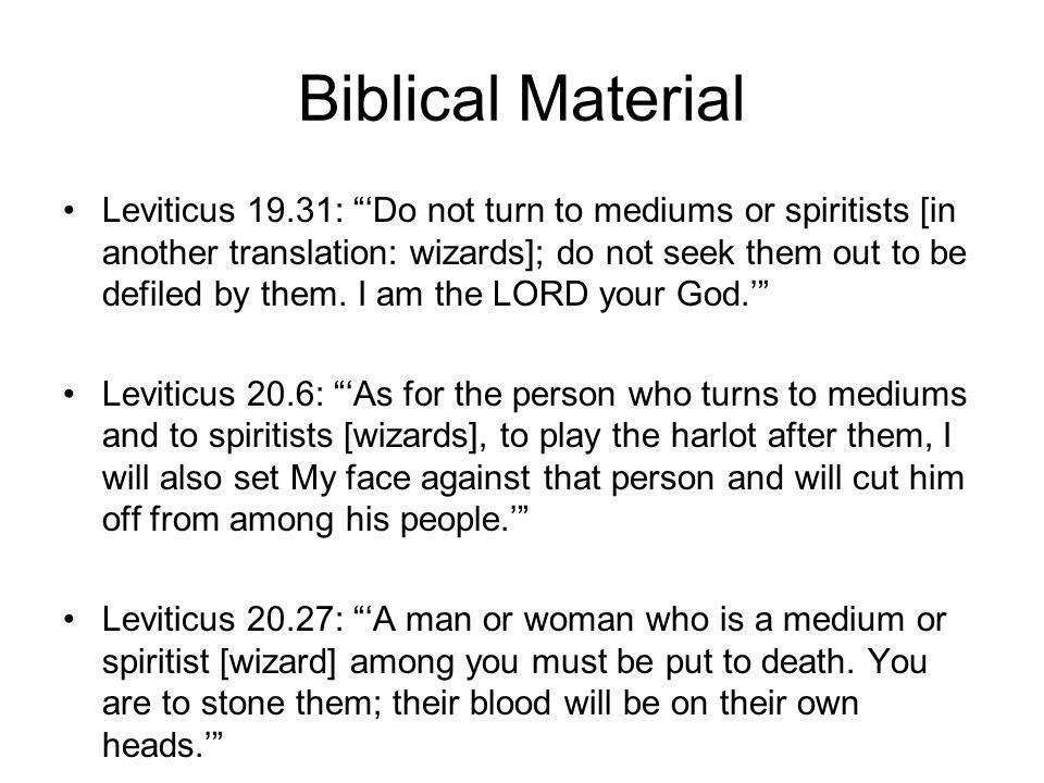 Biblical Material