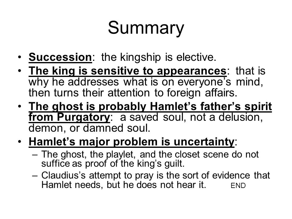 Summary Succession: the kingship is elective.