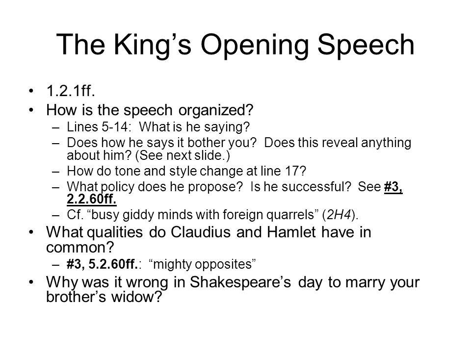 The King's Opening Speech