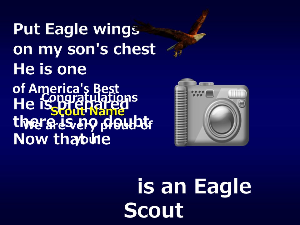 is an Eagle Scout Put Eagle wings on my son s chest He is one