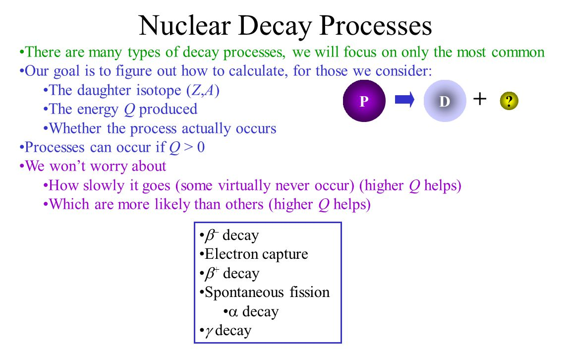 Nuclear Decay Processes