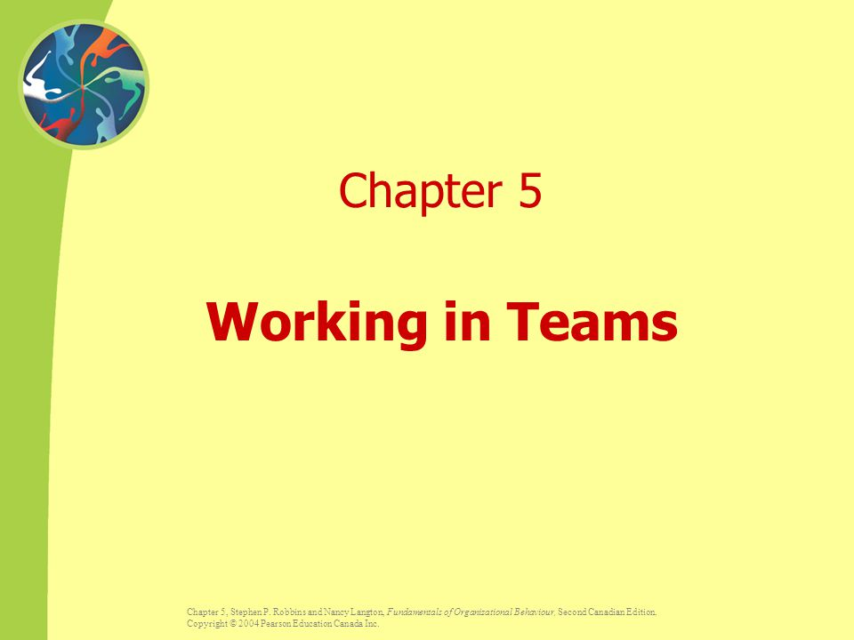Chapter 5 Working in Teams