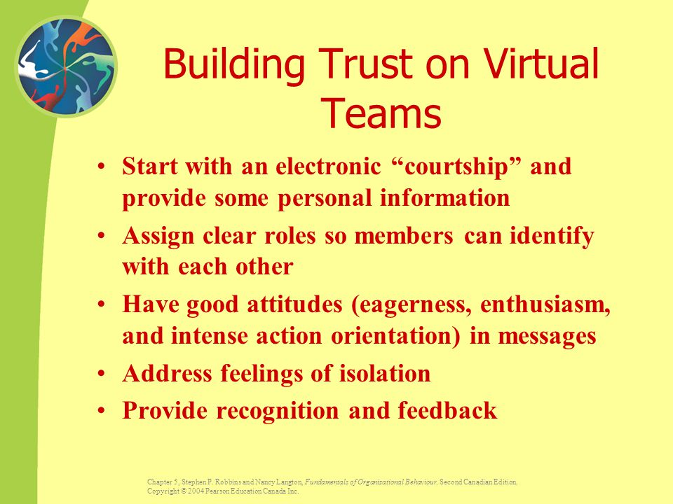 Building Trust on Virtual Teams