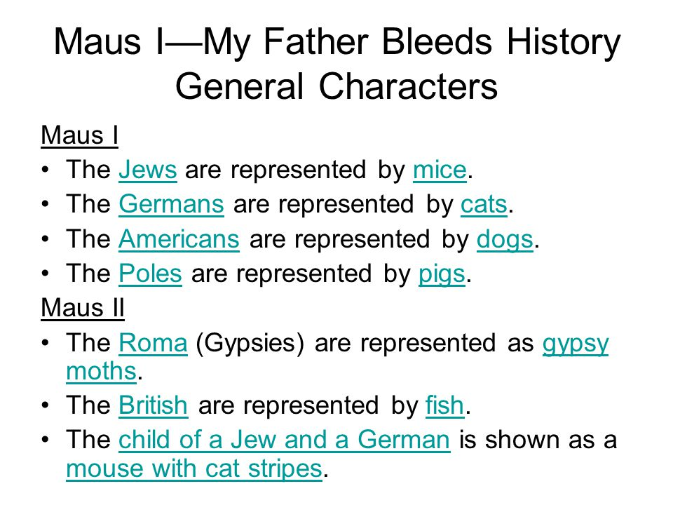 Maus I—My Father Bleeds History General Characters